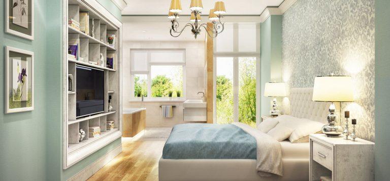 9 pomysłów na tapetę w sypialni